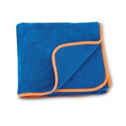 Kids Towel, royal blue with orange trim