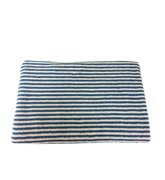 Bath Towel, striped teal/vanilla